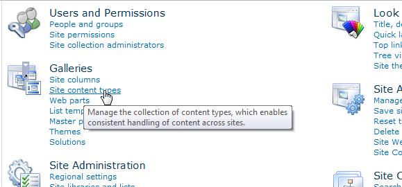 Site Content Types