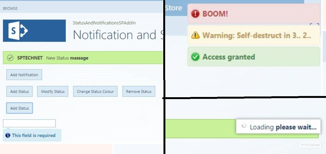 main notification
