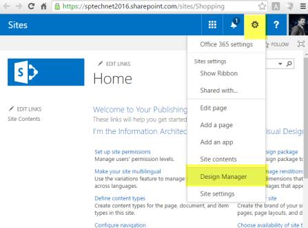 Design Manager Link