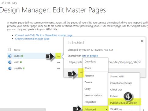 Publishing Master Page