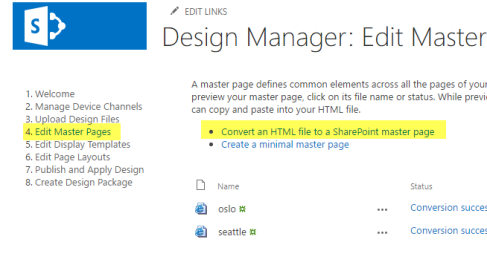 SharePoint Disign Manager Master page